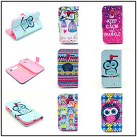 For Motorola Moto X Xphone Flowers cartoon animation animal design Magnetic Holster Flip Leather phone Case Cover Skin B950