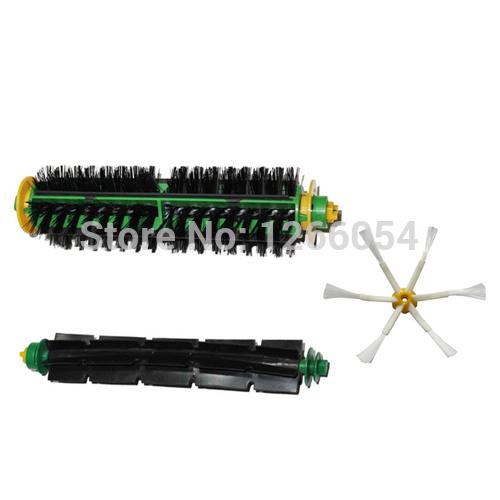Bristle Brush + Flexible Beater Brush + 6-armed Side Brush Replacement for iRobot Roomba 500 Series 510 530 550 560 580 Cleaner(China (Mainland))