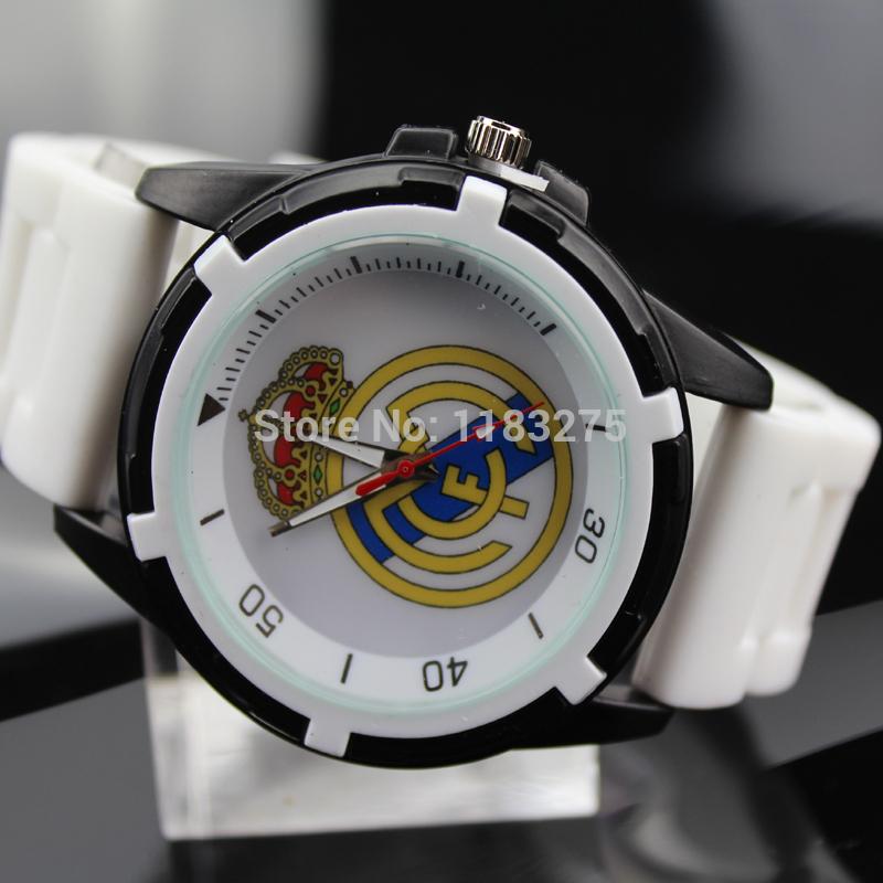 Hot Sale Real Madrid fans souvenirs male fashion casual sports watch silicone alloy quartz wristwatches men