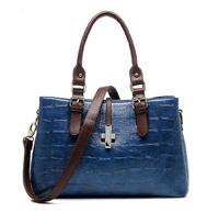 New 2015 Women PU Leather Handbag Fashion Shoulder Bag Women Messenger Bags Vintage Crossbody Bag Hot Stone Tote Bolsas