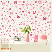 set/lot Wall Stickers Floral Print Decoration Wall Hangings Stickers Wall Stickers Home Decor Stickers Wall Poster 10 Color