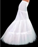 Free Shipping Hot Sale Cheap High Quality Mermaid Petticoat 2 Hoops White Wedding Dress Crinoline 2014 New Arrival