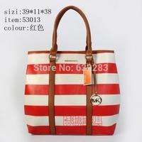 2014 silk bow striped bag handbag shoulder bag