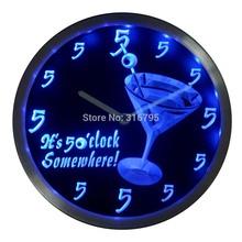neon clock promotion