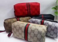 Free Shipping 12 pcs/lot Brand Make Up bag Cosmetic Bag canvas purse Small wristlet bag organize zipper handbag