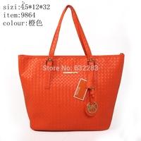 The new European and American College Wind handbag shoulder bag woven bag