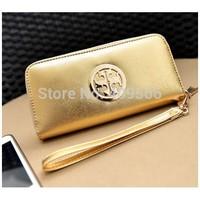 New arrival 2014 cross brief gold noble long design purses card holder wallet women's handbag small wallet cluth bag