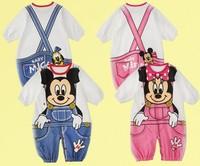 Newborn Baby Boy Girl Romper New 2015 Cartoon Animals Baby Clothing Baby Wear Cotton Overall Jumpsuit Vestidos Baby Rompers