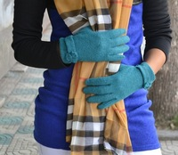 New 2014 Winter Fashion Designer Cuff Knitted Wool Gloves Women Thermal Gloves