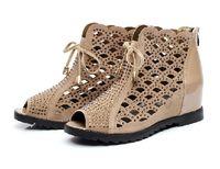2014 open toe high-heeled shoes wedges platform shoes elevator shoes women's rhinestone gauze cool boots black single shoes