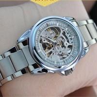 2014 EYKI new brand dress mechanical watch, tourbillon full steel Casual watches,men fashion Hollow sports watch.