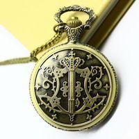 Black Butler Sebastian Pocket Watch Necklace.free shipping 10pcs/lot , wholesell