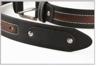 Best selling 2014 New Fashion Design Men's Belt PU & Cowskin Classic Stylish Rivet Belt free shipping