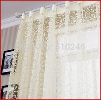 new arrival customized screening fashion design sheer door window screening drape hook style organza day curtain tulle