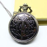 Steampunk Black Butler Sebastian magic wand Pocket Watch Necklace.free shipping 10pcs/lot , wholesell