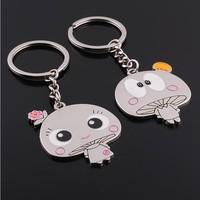 Free Shipping,New 2014 kawaii key chains metal key ring,fashion trinket ring key for couple friendship gifts jewelry keychains