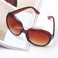 Hot Sale Fashion Eyewear Black Brown Leopard Woman Toad Sunglasses