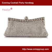 Metal flower frame women baguette - wedding party clutch bags - Prom handbag