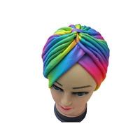 rainbow colorful Turban Head Wrap Band Hat  headband Cap Chemo Bandana