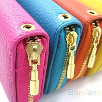 Wholesale 2013 New Womens PU Leather  Wallet Coin Purse Phone Case for iPhone 5 4S iPhone4g Galaxy Galaxy HTC Mobile Phone Item