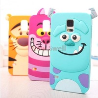 Animal  Protective Silicone Cover Case for Samsung Galaxy S4 I9500 Free Shipping