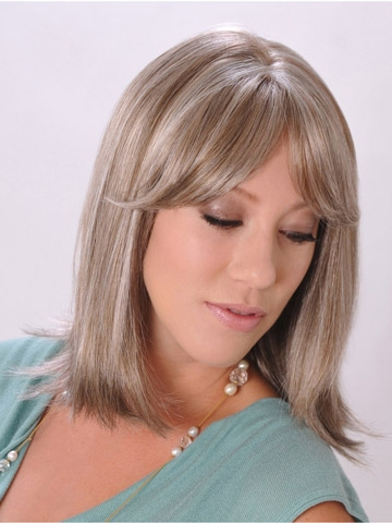 Bob synthetic hair Monofilament wigs for women. This blonde lace front ...