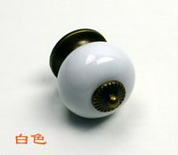10pcs/lot New design white ceramic knobs furniture handles knobs wardrobe and cupboard knobs drawer dresser knobs cabinet pulls
