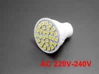 2X GU10 bulbs 30 leds 5050 chip AC  220V-240V  led spotlighting white warm white downlight lamp