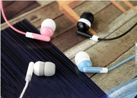 2014 New Fashion 3.5 mm In-Ear Earphone For MP3 Phone Computer/Cute Portable Cheap Candy Color Jack Size Earphone