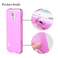 500pcs Gel Soft TPU With Dustproof Plug Transparent Color Mobile Phone Back Shell For Samsung Galaxy S5 i9600 DHL Free Shipping
