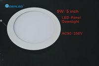 Free shipping DHL/FEDEX 5inch/9W Led panel light 10pcs/lot new Ultra thin design Downlight AC90-250V