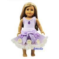 "18"" American Girl Doll Sofia Princess Lavender Pettiskirt Costume Party Dress"