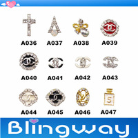 [SP-004]Factory Direct  100Pcs 3D Metal Nail Art Decoration / Cellphone Rhinestone Glitters Decoration + Free Shipping