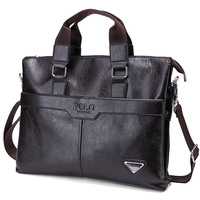 POLO Mens brand pu leather handbags men messenger bags new 2014 male commercial business shoulder bag free man hand bags Brown