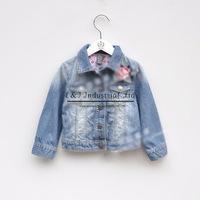 European Girls Jeans Jacket Fashion Demin Jackets For  Girl Hot sale Children Outwear Girls Apparel Free Shipping