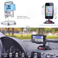 Emgreat Smart Stand Holder Bracket With Charge In-Car Handsfree &FM Transmitter Modulator for iPhone iPod HTC Samsung P0013907