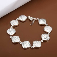 New Arrival Wholesale 925 Silver Bracelet,925 Silver Fashion Jewelry,Inlain Zircon Fashion Bracelet&Bangle SMTH333