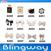 [SP-005]Factory Direct  100Pcs 3D Metal Nail Art Decoration / Cellphone Rhinestone Glitters Decoration + Free Shipping