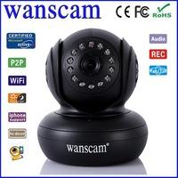 New P2P Wireless WiFi IP Network Webcam  Black Dual Audio Pan/Tilt Night Vision IR Home Security Surveillance
