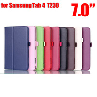 DHL Free 100Pcs/Lot Slim Folio Classice PU Leather case cover with stand and mix color for 7 inch galaxy tab 4 7.0 T230