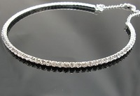 free shipping ! 2Pcs Of Crystal Necklace Chain STUNNING RHINESTONE DIAMANTE LA001