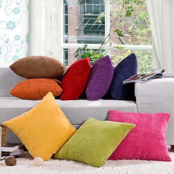 1PC Colorful Corn Kernels Corduroy Sofa Decor Throw Pillow Case Cushion Cover Square Office Back Cushion Car Cushion DP671357(China (Mainland))