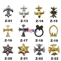 [SP-013]Factory Direct  100Pcs 3D Metal Nail Art Decoration / Cellphone Rhinestone Glitters Decoration + Free Shipping