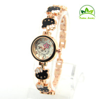 Wholesale Gogoey Brand Hello Kitty Quartz Watch Fashion Children Women Lady Rhinestone Wrist watches 1T420