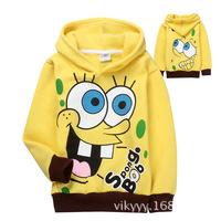 Fashionable 2014 hot sale children cartoon hoodies beautiful design wholesale price good quality free shipping