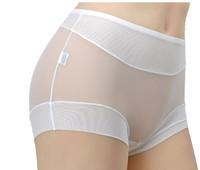 Sexy transparent women's oversized panties mm full gauze high waist plus size xxxl   14051313