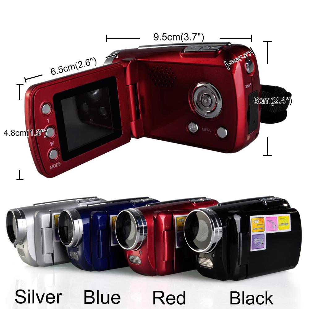 2014 New 4 Colors Mini Series Digital Video Camera 4 x Digital Zoom Hand Grip With SD/MMC Card Slot DA0471-20#M1(China (Mainland))