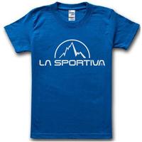 2014 summer famous sport  brand  La Sportiva T Shirt cotton outdoor sport t-shirt man top tee casual man short sleeve plus size