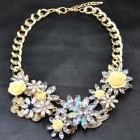 Wholesale Fashion Designer European Brand Fashion Vintage Jewelry Collar Flower Luxury Choker Statement Necklace &pendants