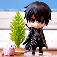 Free shipping 1pc Hot Anime Sword Art Online PVC Action Figures cute Kirito Q Version figure doll SAO toys